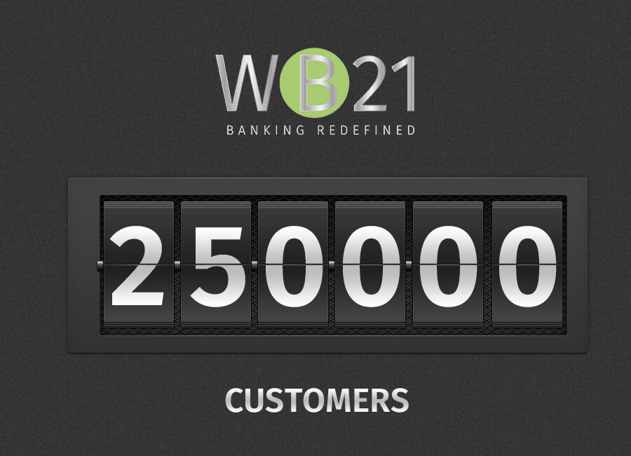 WB21 exceeds 250,000 customers